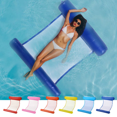 Inflatable Pool Floating Water Hammock Float Lounger Floating Bed Chair Swimming Pool Inflatable Hammock Bed Pool Party Toy