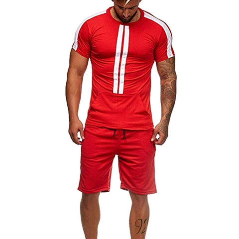 Mens Set Streetwear Quick Dry Gym Sport Indoor Outdoor Shorts T Shirts + Pants