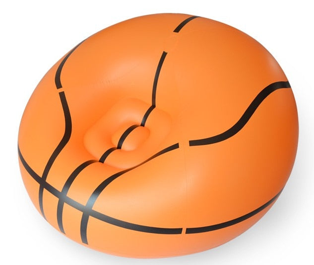 Living room sofa Inflatable basketball football sofa couch single seat settee Environment PVC white black Bearing100kgs Lounge