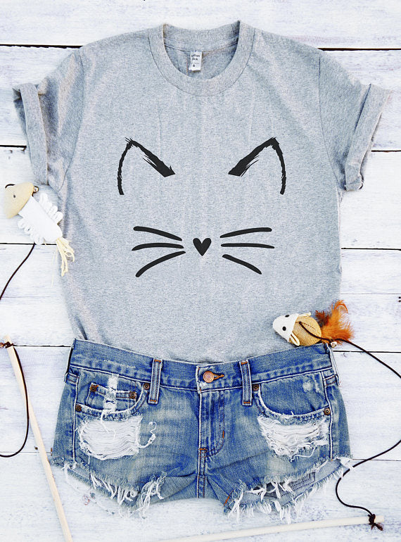 Meow t shirt Cute cat t shirt