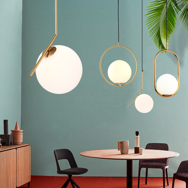 Modern Minimalist Pendant Light Lamp Nordic Ceiling Clothing Decoration Glass Ball Lamp for Living Room Bedroom Dining Room