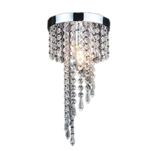 Modern chrome/Golden lustre LED Crystal chandelier lighting Fixture Pendant Ceiling Lamp Crystals
