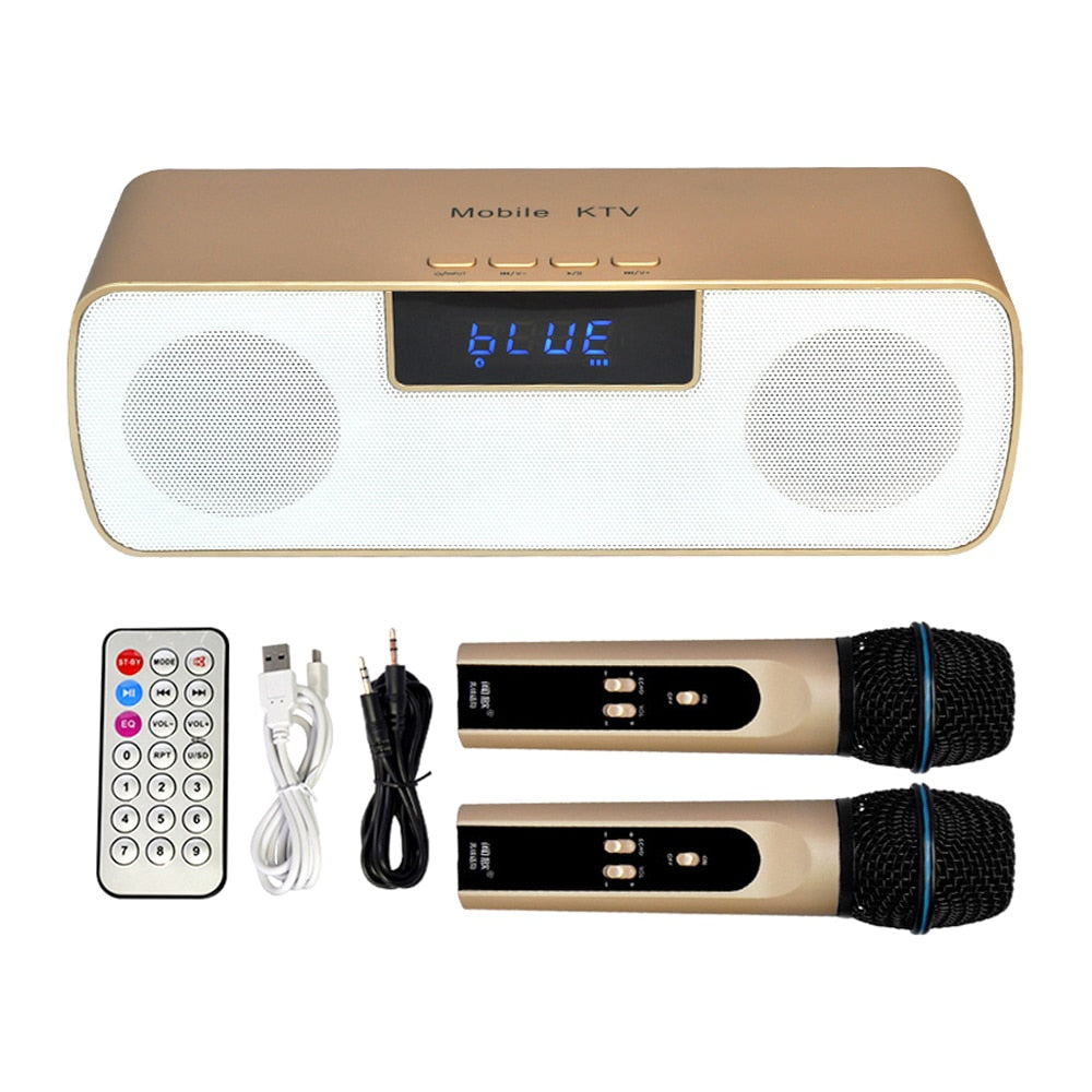 N-200 Mobile KTV Wireless Microphone Karaoke KTV Player Handheld Condenser with Wireless Speaker for iPhone iPad iPod