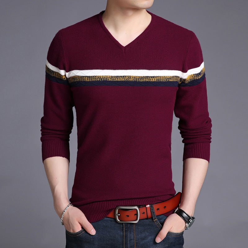 Men Casual Slim render knitted Sweater  T Shirts