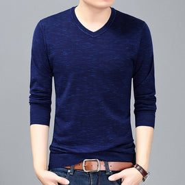 High Quality Men Floral Casual Slim Long sleeve T Shirt