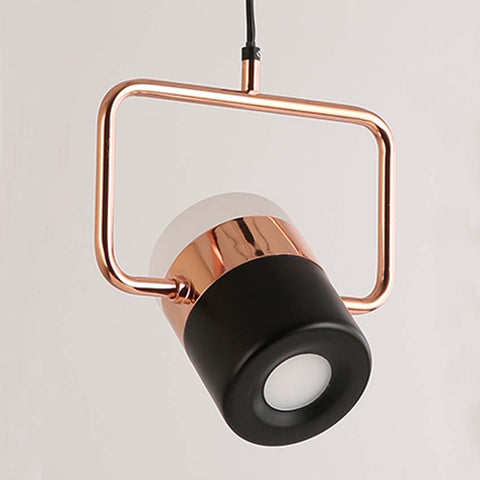 New postmodern led pendant lights plated rose gold wought iron nordic simple suspension lamp dining room bedroom hanglamp light