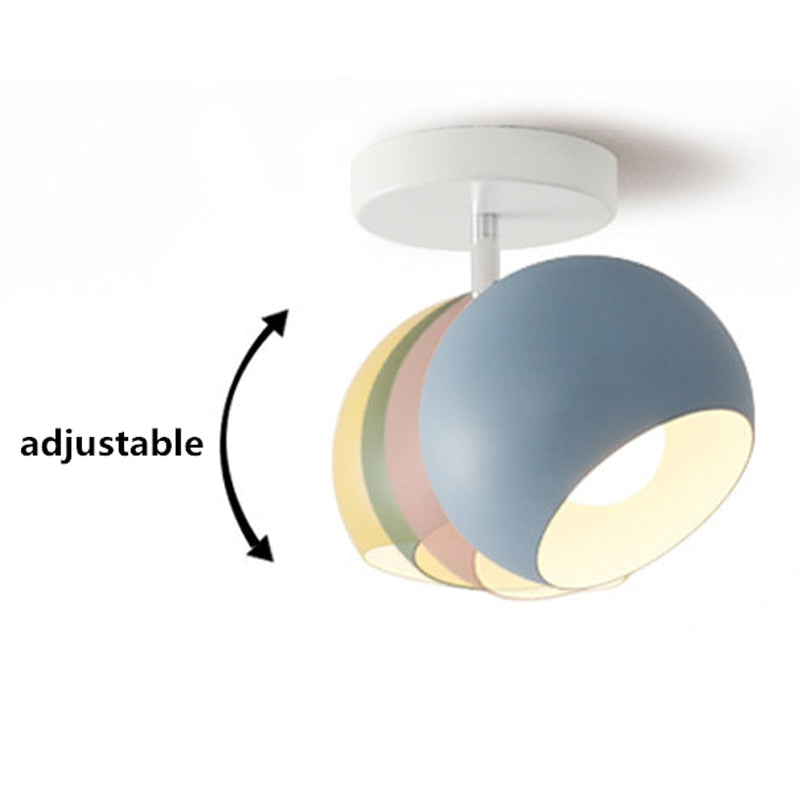 Nordic Macaron Ceiling Lights Modern Led Ceiling Lamp For Living Room Bedroom Luminaire Porch Aisle Corridor Lighting Fixtures