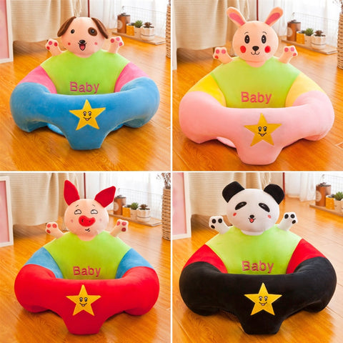 Plush Fabric Baby Children Seats Sofa Children Bean Bag Toys Without PP Cotton Filling Material Only Cover