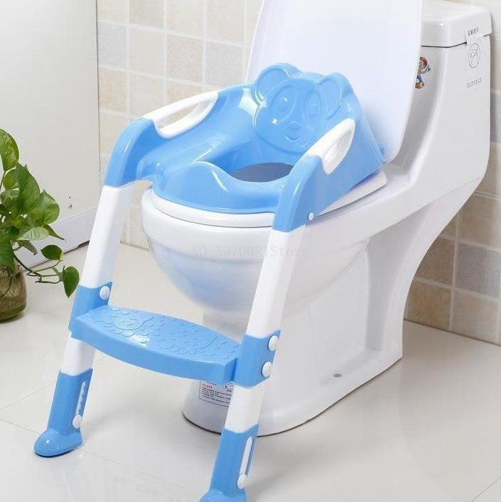 Portable Non-slip Toilet Seat for Infants Foldable Kids Toddler Potty Training Tool with Handles Made of Safety Material