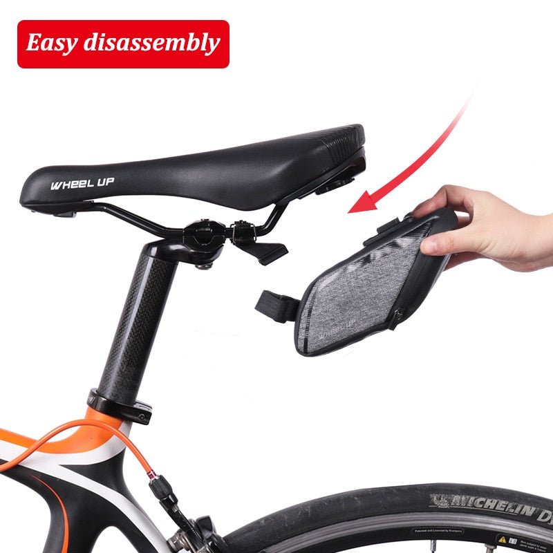 Rainproof Bicycle Bag Reflective Shockproof Cycling Bag Rear Seatpost Bag Bike Accessories 3D Anti-deformation Bike Saddle Bag
