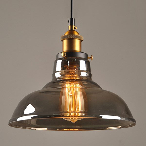 Vintage Pendant Lights Glass Pendant Lamps Loft Industrial Hang lamp Smoky grey