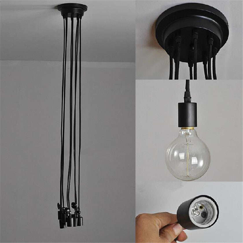 Vintage Spider Led Ceiling Light Fan Lustre industrial black Ceiling Liights Hanging Lamp Design DIY luminaire Home Decor Lamp
