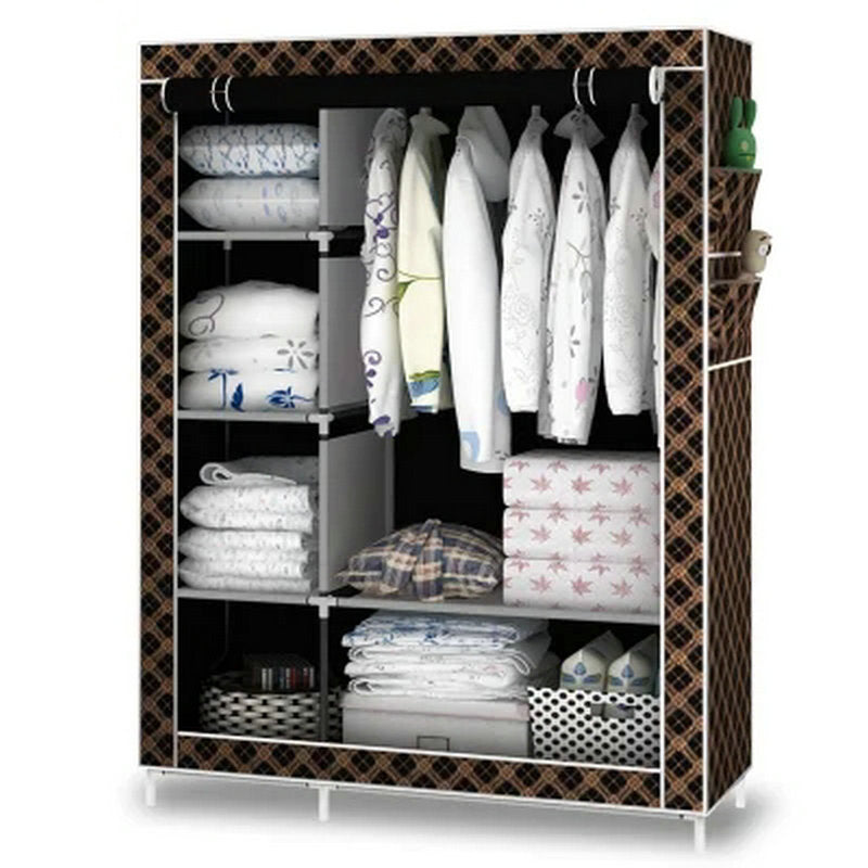 When the quarter wardrobe DIY Non-woven fold Closet Portable Storage Cabinet Multifunction Dustproof Moistureproof  Furniture
