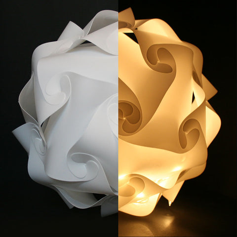White 25cm/30cm/40cm Modern DIY Elements IQ Jigsaw Puzzle ZE Lamp Ceiling Chandelier Pendant Lamp Ball Light Lighting