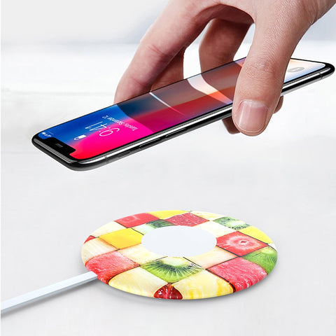 Qi fast  wireless charger charging padfor iphone x android s9s8