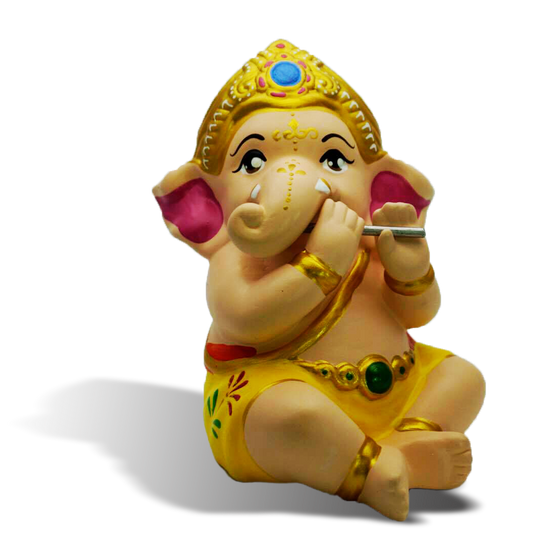 Ganesha Playing Flutes (B)