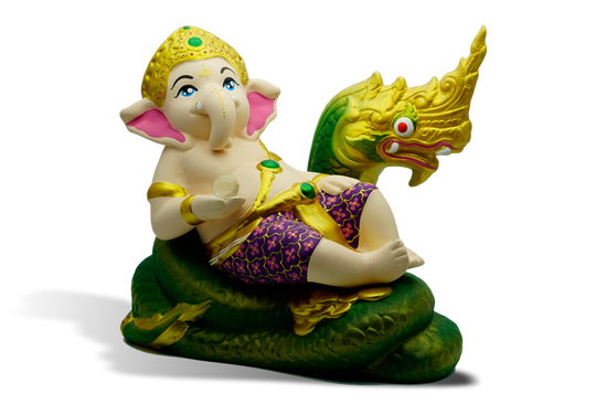 Ganesh And King of Nagas (A)
