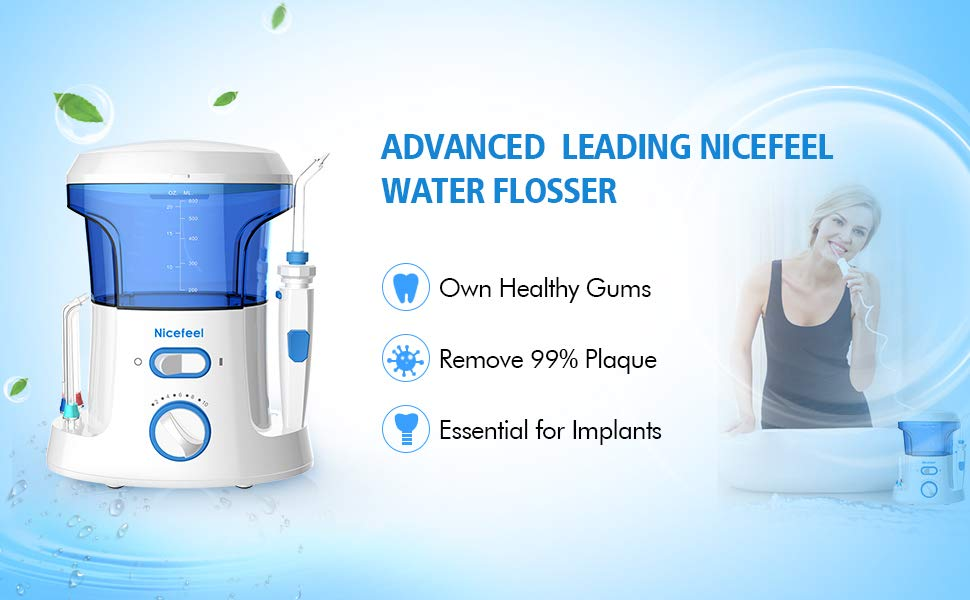 Nicefeel Home 600ML Countertop Water Flosser Oral Irrigator