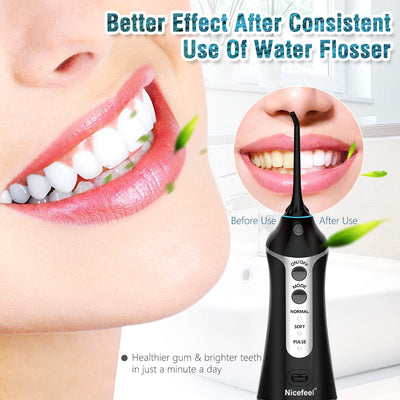 Cordless Dantel Water Flosser Water Pik Teeth Cleaner Oral Irrigator