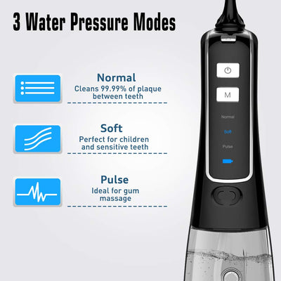 Nicefeel 300ML Protable Cordless Water Flosser Plus Oral Irrigator