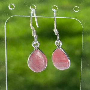 Rhodochrosite Cabochon Drop Earrings