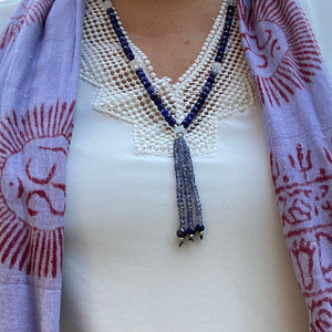 Mala Necklace-Sodalite, Moonstone and Iolite