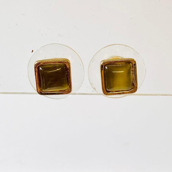 TIGER EYE POST EARRINGS #2