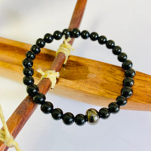 Black Tourmaline Bracelet / yoga jewelry / gemstone / gift ideas / crystals / healing crystals / beaded bracelets / made in Canada
