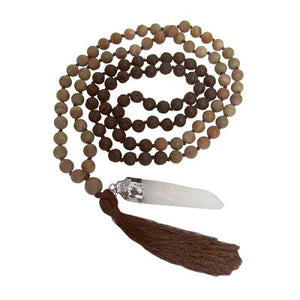 MALA NECKLACE - MATTE BROWN FANCY JASPER