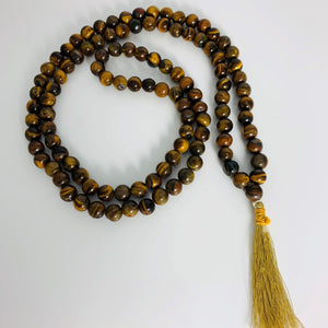 Mala Necklace-Gold Tiger Eye