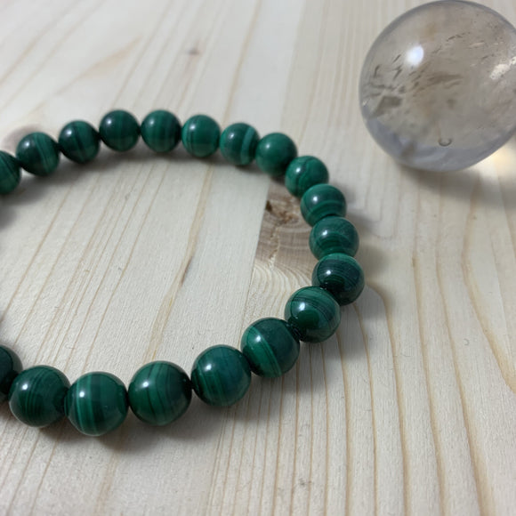 Malachite Bracelet / yoga jewelry / gemstone / gift ideas / crystals / healing crystals / beaded bracelets / made in Canada