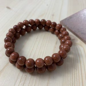 BROWN GOLDSTONE BRACELET