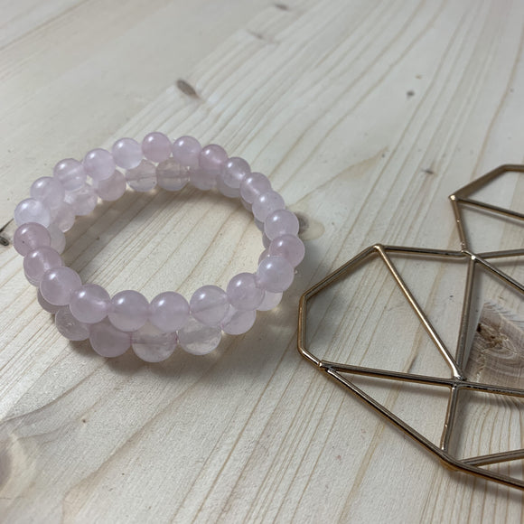 Rose Quartz Bracelet / yoga jewelry / gemstone / gift ideas / crystals / healing crystals / beaded bracelets / made in Canada