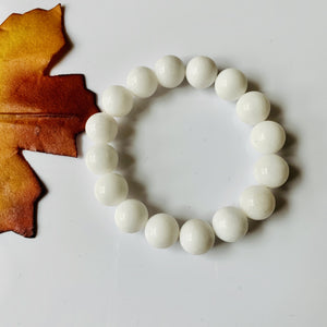 White Jade Bracelet / yoga jewelry / gemstone / gift ideas / crystals / healing crystals / beaded bracelets / made in Canada