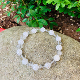 CLEAR AND CRACKED CRYSTAL QUARTZ BRACELET
