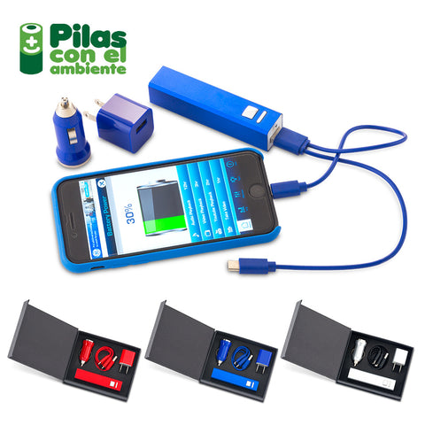 Set Travel con Pila 2200 mAh