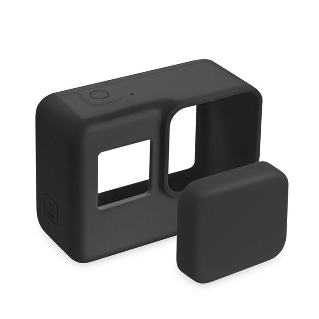 Go Pro  Protective Silicone Camera Case Skin +Lens Cap cover for GoPro Hero 5 Black Hero 6 Camera