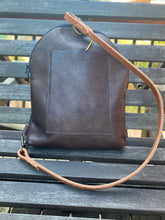 Load image into Gallery viewer, Sweet Butter Brown Leather Backpack with Adjustable Strap and Exterior Pocket