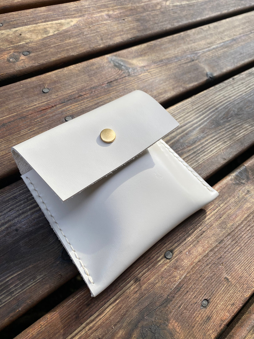 The White Leather Playing Card Case