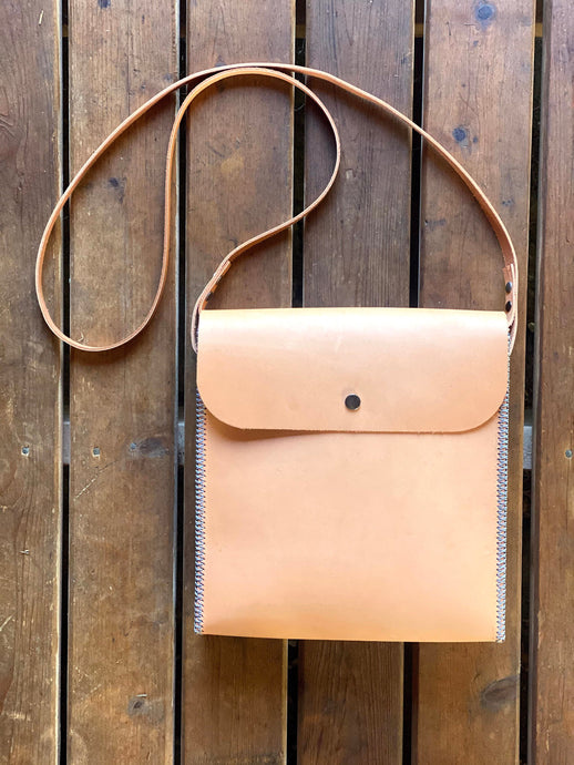 The Natural Leather and Carbon Fiber Crossbody Bag