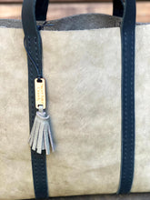 Load image into Gallery viewer, The Grey/Green Leather Tote