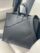 Load image into Gallery viewer, Black Tote with Removable Crossbody Strap