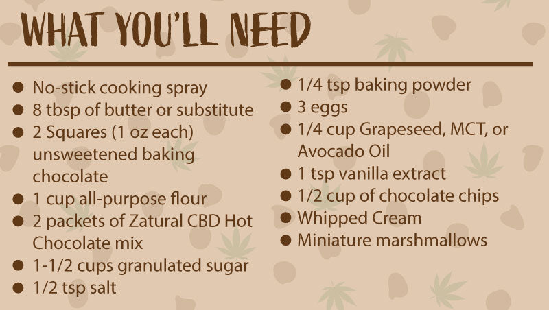 What you'll need to make CBD hot chocolate brownies