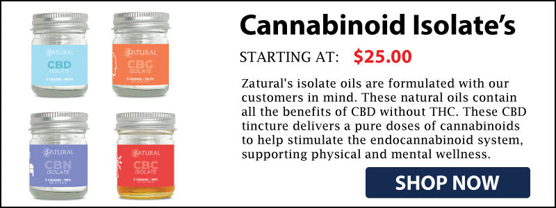 Zatural Isolate Cannabinoid collection shop now