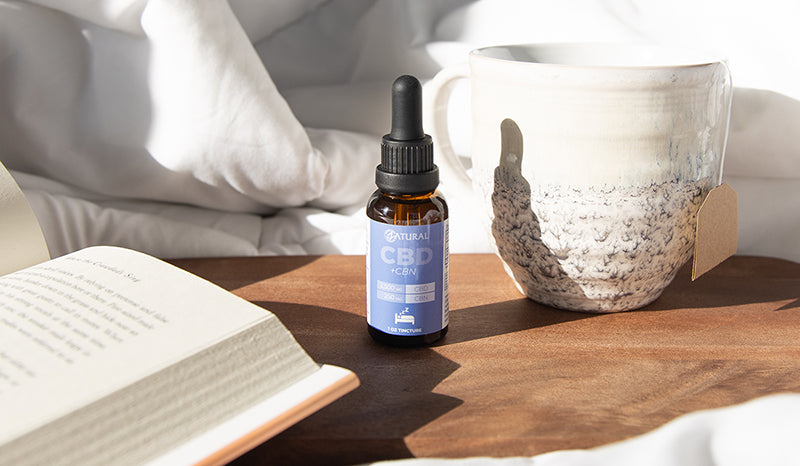 CBN product on the night stand. Does CBN help with sleep?