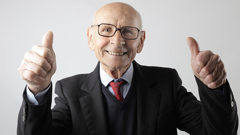 Elderly man giving the thumbs up. Is cbd hemp oil legal in georgia? Is cbd hemp oil legal in virginia?