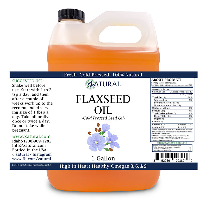 1 gallon Flaxseed Oil