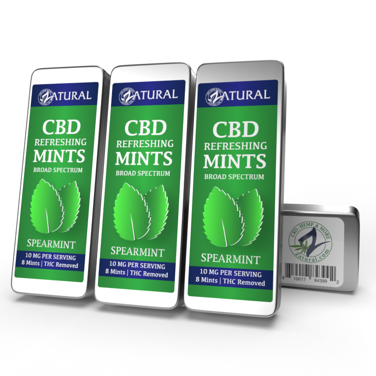 CBD Spearmint Mints Four Pack