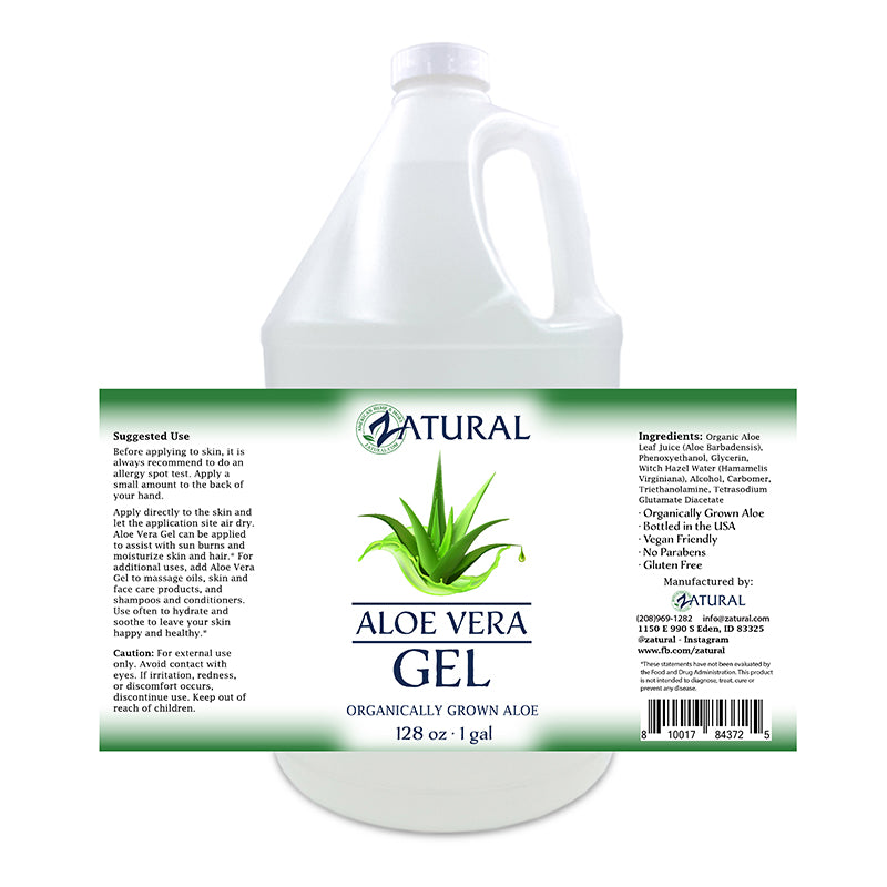 Zatural 1 gallon Aloe Vera Gel