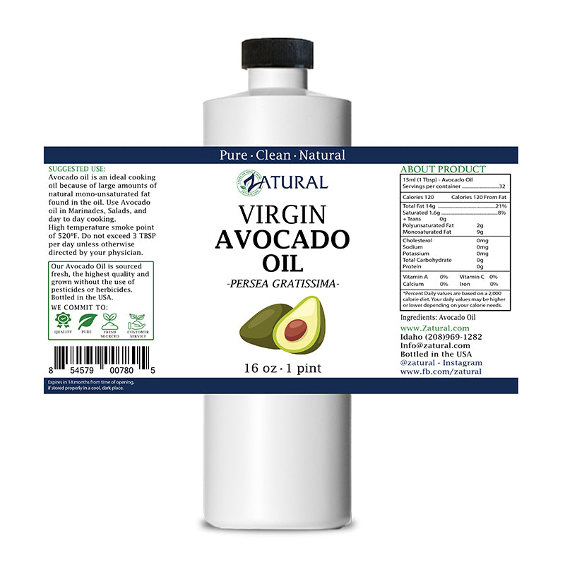 Zatural 16oz Avocado Oil